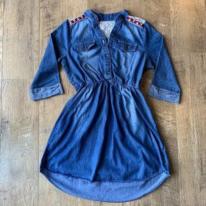 My Michelle Girls Blue Jean Dress - Girls Size 14